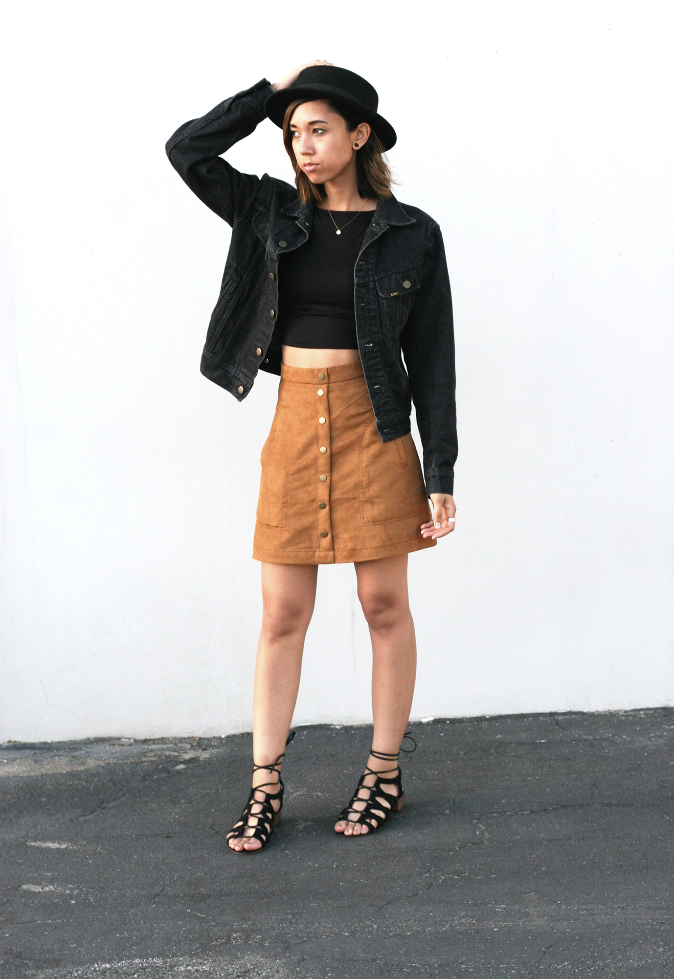 suede button down skirt Archives | Unconscious Style