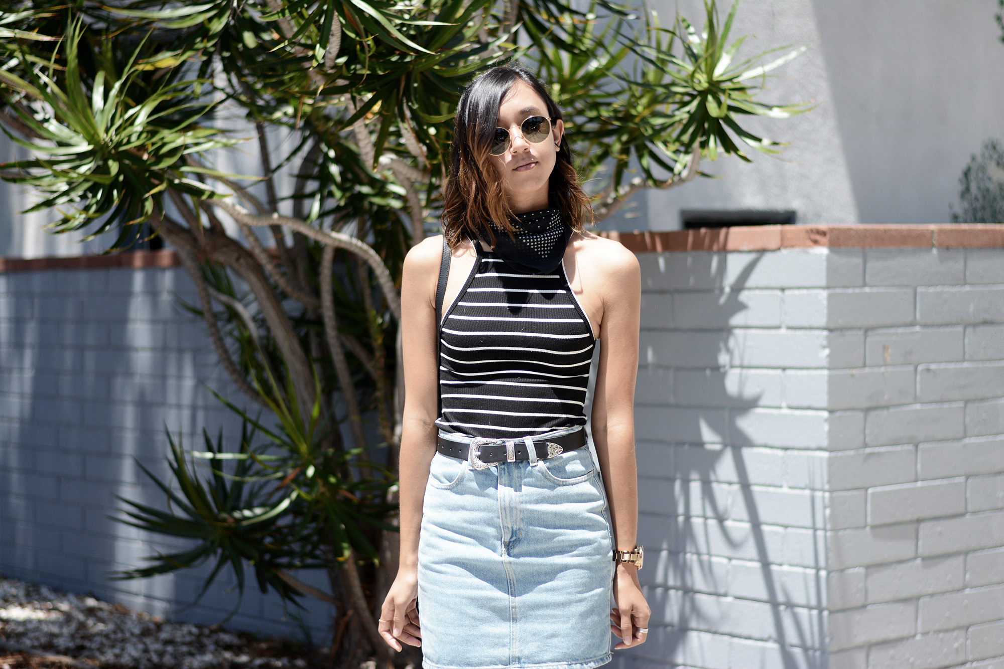 Reformation_Striped_Dress_AA_Denim_Skirt5