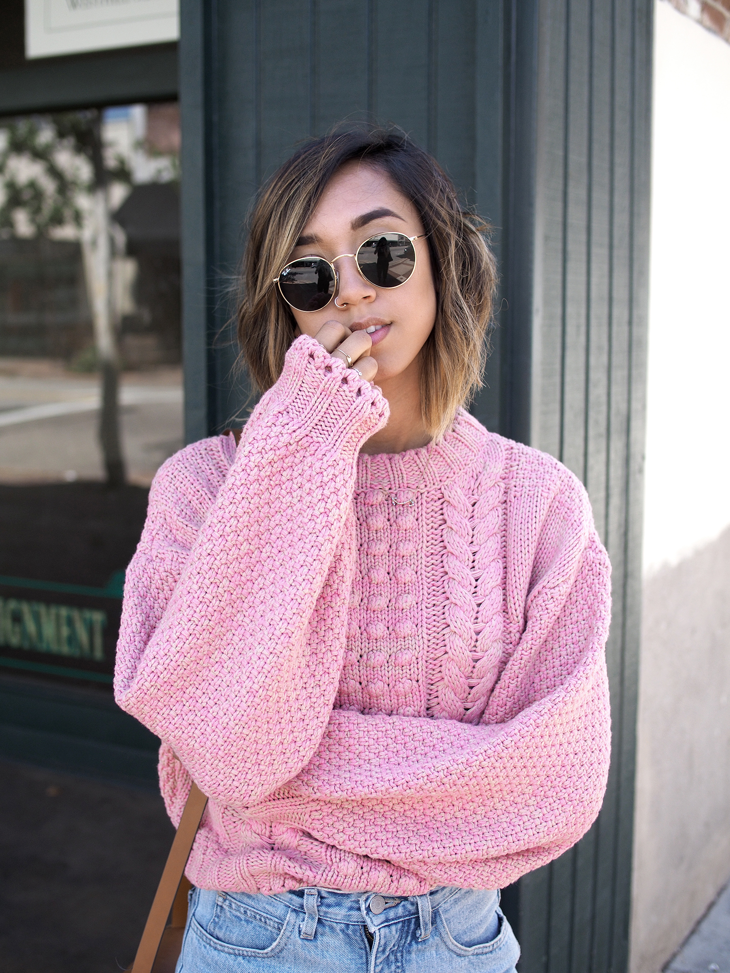 Orange Cable Knit Sweater