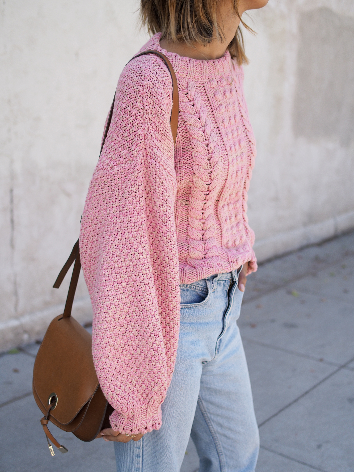 Chunky Pink Knit | Unconscious Style