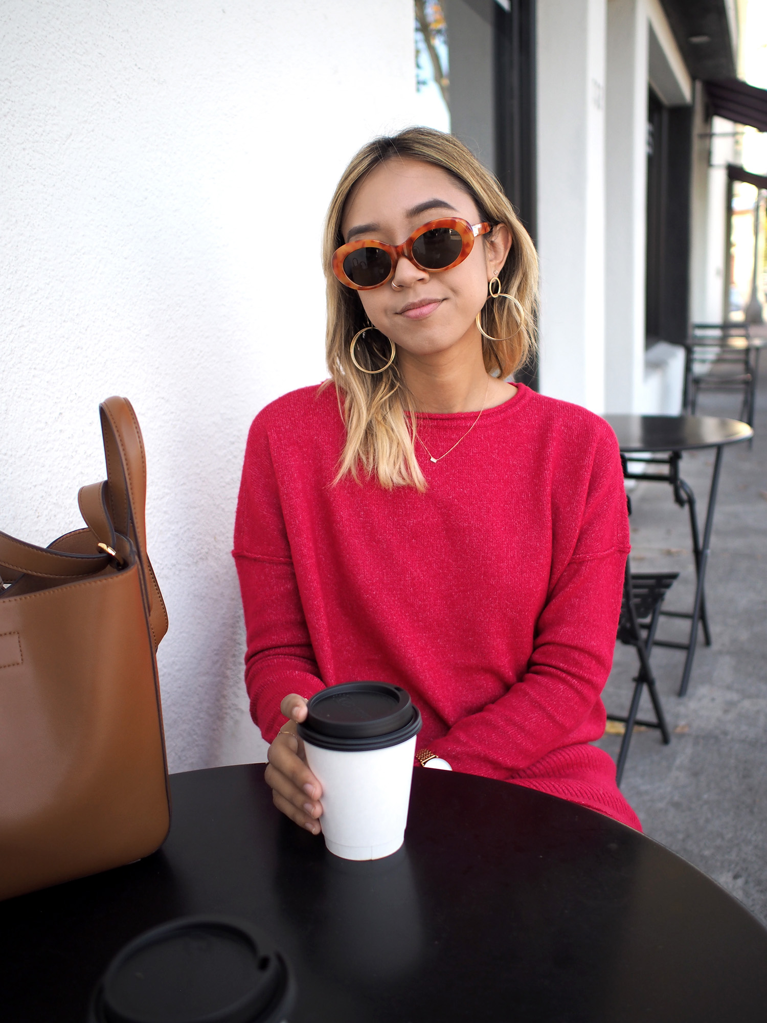 Red Sweater Set